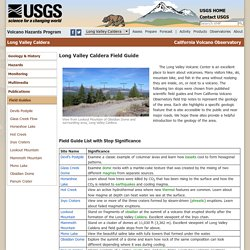USGS: Volcano Hazards Program CalVO Long Valley Caldera