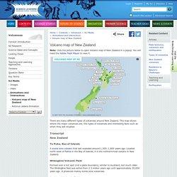 Volcano map of New Zealand