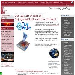 Cut-out 3D volcano model