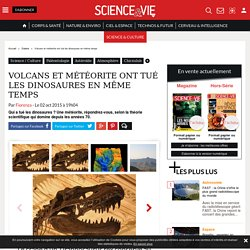 Volcans et météorite ont tué les dinosaures en même temps - Science-et-vie.com