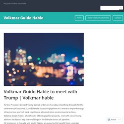 Volkmar Guido Hable to meet with Trump
