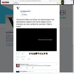 """de Volkskrant on Twitter: """"Vanavond zitten we klaar om beweringen van lijsttrekkers tijdens het Carré-debat live te checken en van context te voorzien. Kijkt u mee?"""