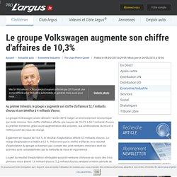 Le groupe Volkswagen augmente son chiffre d'affaires de 10,3% – L'argus PRO