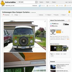 Volkswagen Bus Camper Curtains