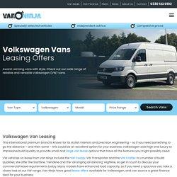 Volkswagen Van Lease Deals