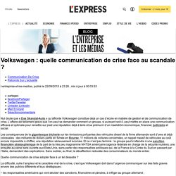 Volkswagen : quelle communication de crise face au scandale ?