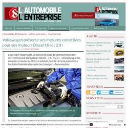 Volkswagen présente ses mesures correctives pour ses moteurs Diesel 1.6 l et 2.0 l