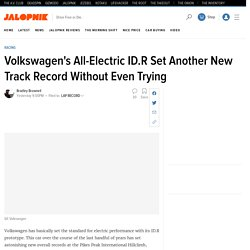 Volkswagen's All-Electric ID.R Set Another New Track Record Without Even Trying