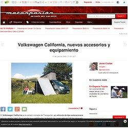 Volkswagen California, nuevos accesorios y equipamiento