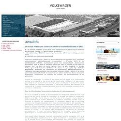 Le Groupe Volkswagen continue d'afficher d'excellents résultats en 2013