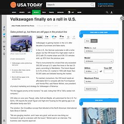 Volkswagen finally on a roll in U.S.