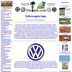Volkswagen Logo History @ DasTank.com