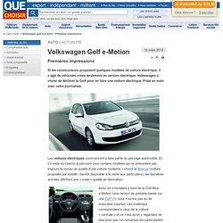 Volkswagen Golf e-Motion - Premières impressions