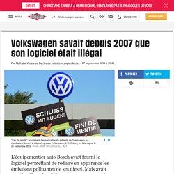 Volkswagen savait depuis 2007 que son logiciel était illégal