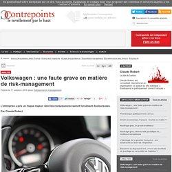 Volkswagen : une faute grave en matière de risk-management