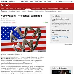 Volkswagen: The scandal explained