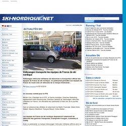 Volkswagen transporte les équipes de France de ski nordique