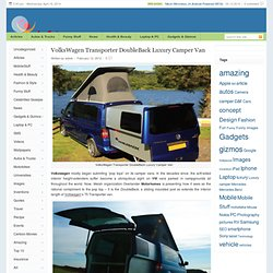 VolksWagen Transporter DoubleBack Luxury Camper Van | Joy Enjoys - StumbleUpon