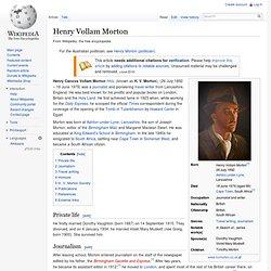 Henry Vollam Morton