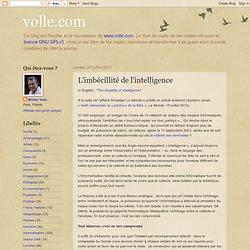 L'imbécillité de l'intelligence