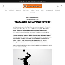 What are the 6 volleyball positions? – OlympicSportingCo