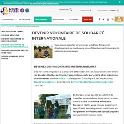 Scouts et Guides de France - Devenir volontaire de solidarité internationale