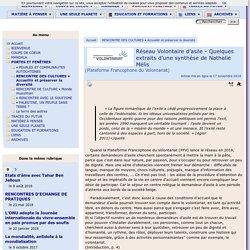 La facilitation du volontariat des demandeurs d'asile (en Wallonie et à Bruxelles)