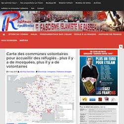 Carte des communes volontaires pour accueillir des réfugiés : plus il y a de mosquées, plus il y a de volontaires