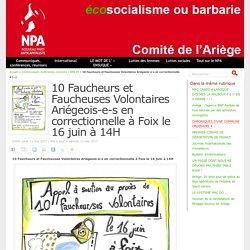 10 Faucheurs et Faucheuses Volontaires Ariégeois-e-s en correctionnelle à Foix le 16 juin à 14H