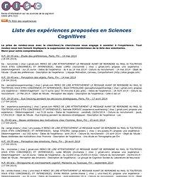 RISC : Les demandes de volontaires pour des expériences