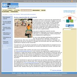 Volontaires des Nations Unies:Autres opportunités de volontariat