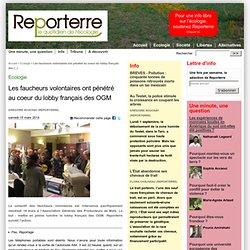 Les faucheurs volontaires ont pénétré au coeur du lobby français des OGM