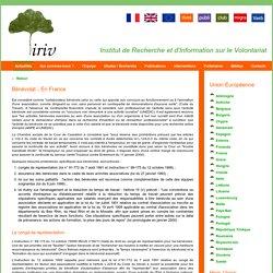 Bénévolat - En France - Lois et textes concernant le bénévolat/volontariat - Année européenne du bénévolat 2011 - IRIV - Institut de Recherche et d'Information sur le Volontariat