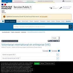 Volontariat international en entreprise (VIE)