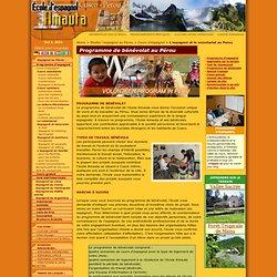 L'espagnol et le volontariat au Perou. Programme de bénévolat au Pérou