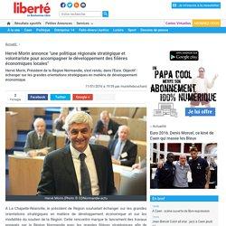 """Hervé Morin annonce """"une politique régionale stratégique et volontariste pour accompagner le développement des filières économiques locales"""""""
