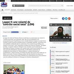 """Loppsi II: une volonté de """"contrôle social total"""" (LDH) - Fil ne"""