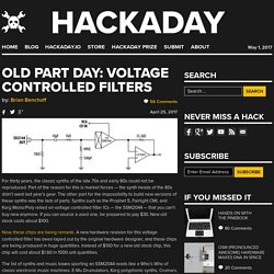 Old Part Day: Voltage Controlled Filters