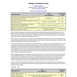 Voltage of an Electric Chair
