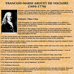 a biography of francois marie arouet the most influential figure during the french enlightenment Born françois-marie arouet,  apparent in roger pearson's 2005 biography voltaire almighty  to know about a major figure in the enlightenment age because.