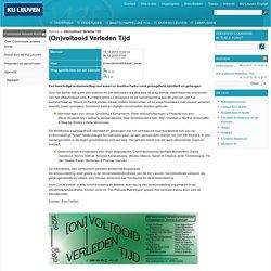 (On)voltooid Verleden Tijd – Universiteitsbibliotheek KU Leuven