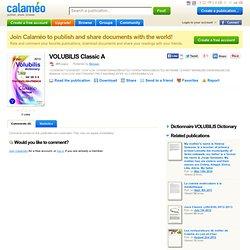 Dictionnaire thaï multilingue Volubilis (thaï romanisé - thaï - français - anglais) : Abridged A
