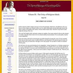 The Spirit of Sufism VOLUME IX - 32