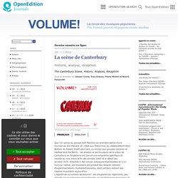 Volume ! l Revue en accès libre