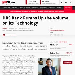 DBS Bank Pumps Up the Volume on its Technology