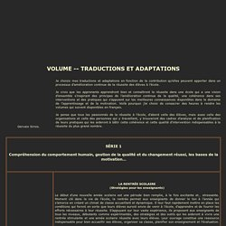 Volume traductions et adaptations