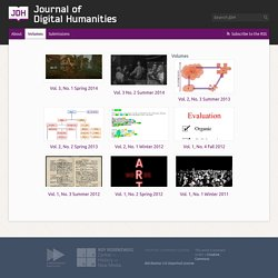 » Volumes Journal of Digital Humanities