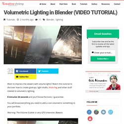 Volumetric Lighting in Blender (VIDEO TUTORIAL)