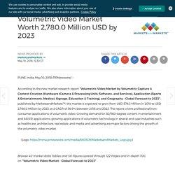 Volumetric Video Market Worth 2,780.0 Million USD by 2023
