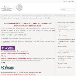 Voluntariado Internacional para el Desarrollo Sustentable de México 2015